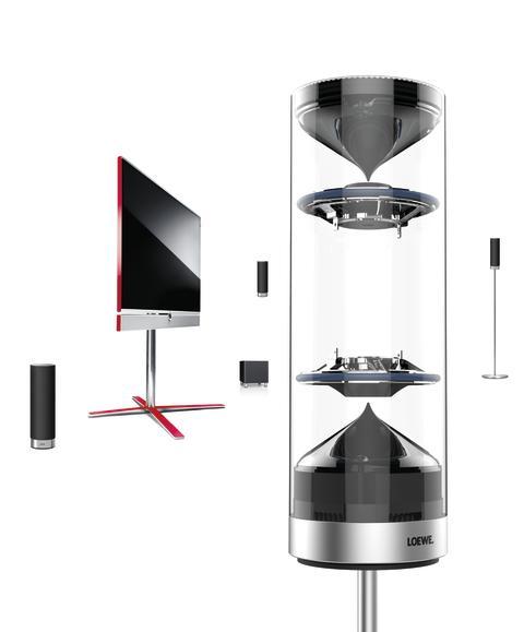 Loewe præsenterer verdens første integrerede trådløse 3D Home Cinema højttalersystem: Loewe 3D Orchestra IS