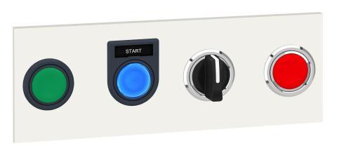 Elegant løsning til planforsænkning af trykknapper og kontrollamper