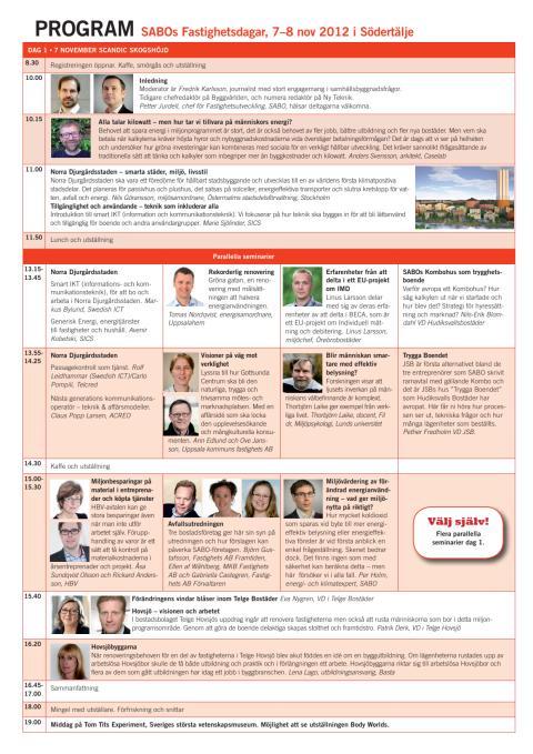 Program Fastighetsdagarna 2012