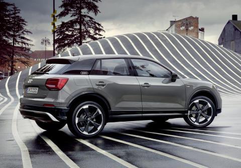 Audi Q2 på Nørrebro (quantum gray)
