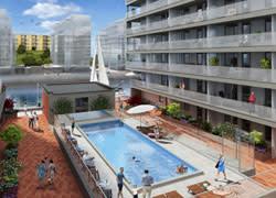 Stort intresse för HSBs poolhus på Västra Eriksberg i Göteborg