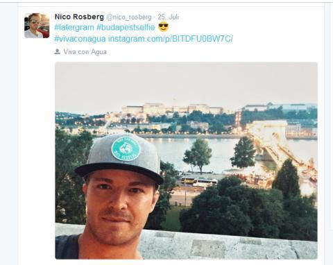 Nico Rosberg mit VcA-Cap in Budapest
