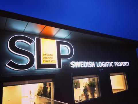 SLP Skylt