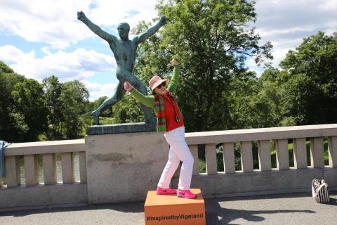 Herm en skulptur i Vigelandsparken