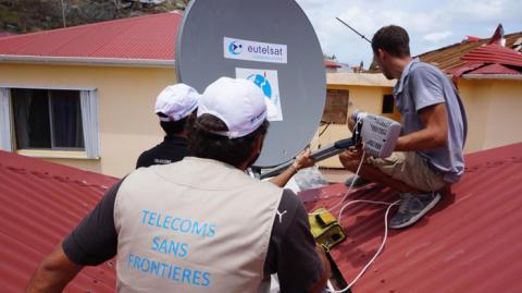 Ouragan Irma : Eutelsat apporte son soutien à l'ONG Télécoms Sans Frontières (TSF)