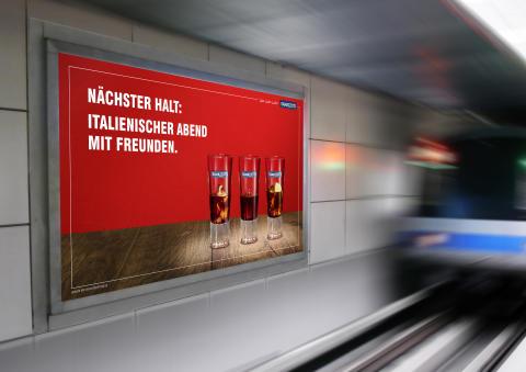 Neue Ramazzotti Kampagne: Infoscreens in Stuttgart im August