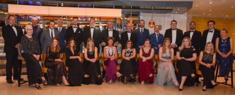 Hi-res image - Fischer Panda UK - The Fischer Panda UK team celebrate at a black-tie dinner to mark their 25th anniversary year
