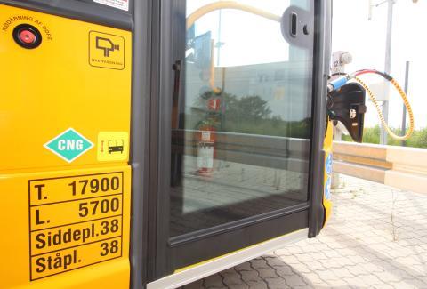 CO2-reduktionen fra de 44 biogasbusser svarer til ca. 2.700 tons pr. år i forhold til tilsvarende dieselbusser