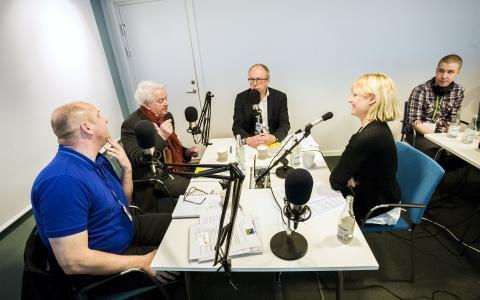 Inspelning av podcasten Snåret