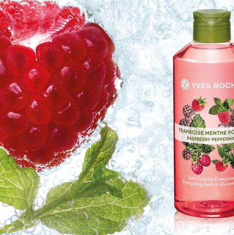 Les Plaisirs Natur Energizing Raspberry Peppermint Bath & Shower Gel