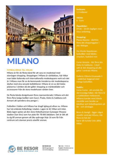 Reseguide Milan