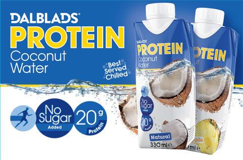 Proteinberikat kokosvatten från Dalblads