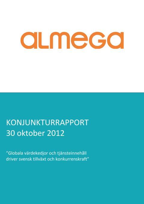 Almegas konjunkturprognos hösten 2012