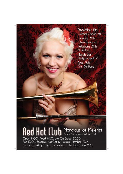 Red Hot Club affisch våren 2014