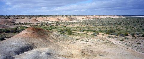 Fossil outcrops in central Australia