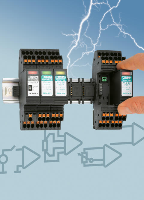 Intelligent Surge Protection with Push-in Connection Technology