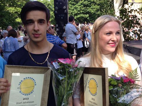 Anna och Josef fick årets Ted Gärdestadstipendier
