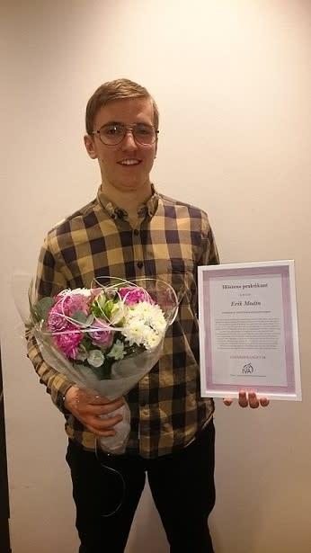 Halebops Erik Modin utsedd till höstens praktikant