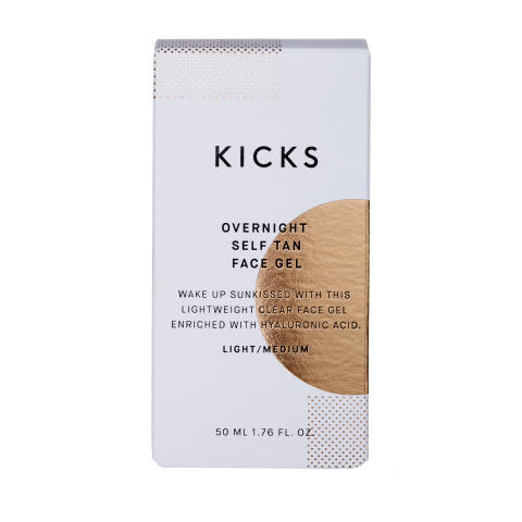 KICKS Overnight Self Tan Face Gel LightMedium closed
