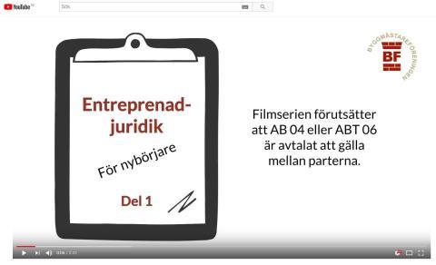 Entreprenadjuridik för nybörjare