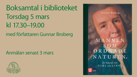 Boksamtal 5 mars: Mannen som ordnade naturen