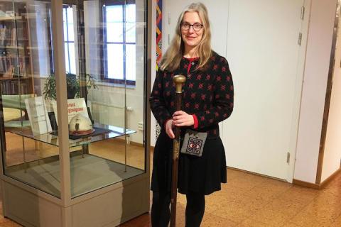 Ny museimonter på Lindesbergs Stadsbibliotek invigs