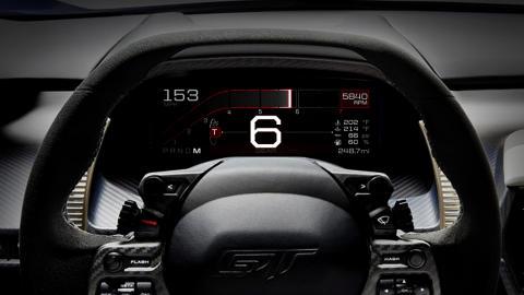 Ford GT Instrumentpanel - Track Mode