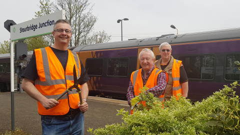 Friends of Stourbridge Stations at Stourbridge Junction