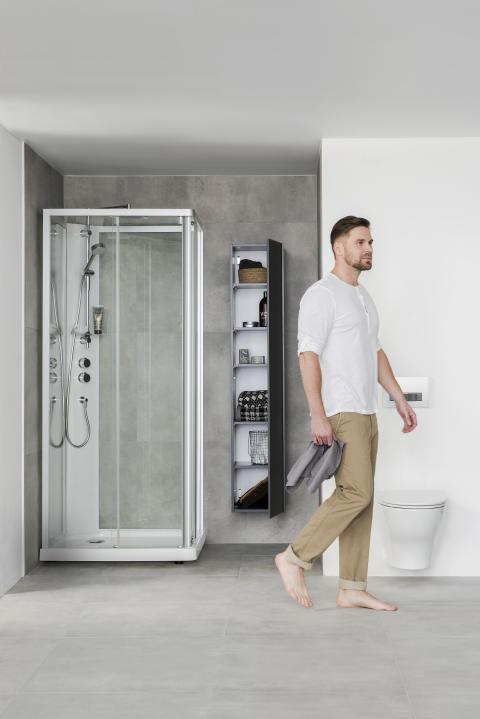 Nelikulmainen IDO Showerama 10-5 - suihkukaappi