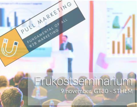 B2B Marknadsföring | Pull-marketing är fundamentet i all framtida kommunikation