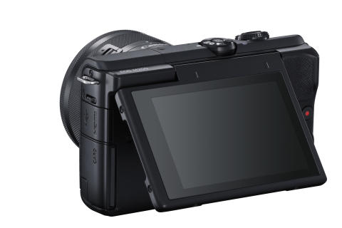 EOS M200_BackSlantLeft_EF-M15-45mmF3.5-6.3ISSTM