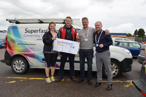Openreach staff raise more than £2000 in 900 mile charity trek