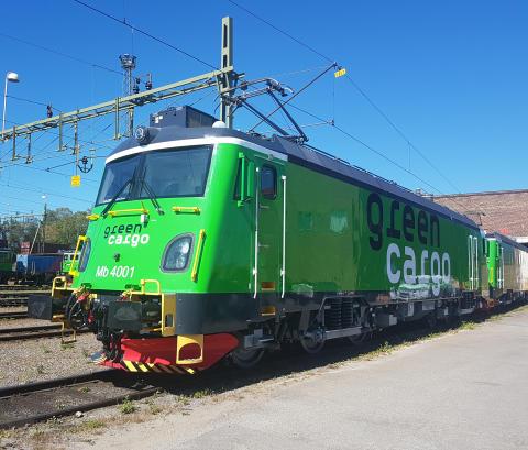 Green Cargos två första Transmontanalok har fått sina namn