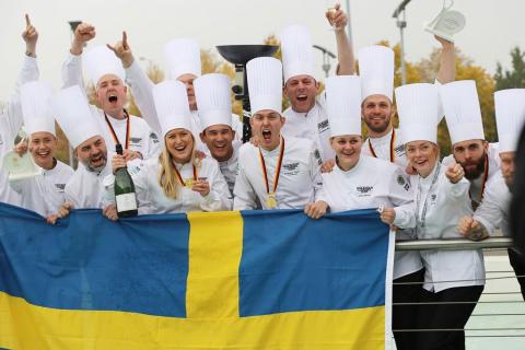 Kulinariskt OS-guldregn över Högberga Gård  - Grand slam för Stockholm Culinary Team och Tommy Eriksson
