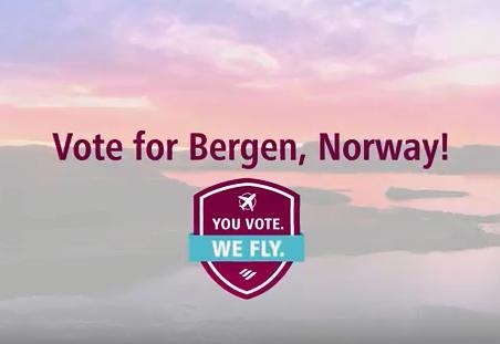 Flyselskapet Eurowings har nominert Bergen til å bli neste by de starter flyrute fra til sommeren