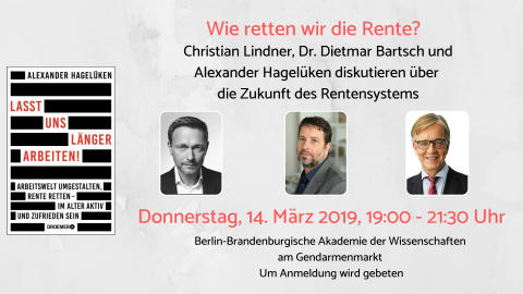 Christian Lindner, Dr. Dietmar Bartsch und Alexander Hagelüken im Gespräch