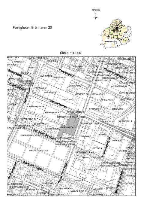 Karta, Brännaren 20, Sorgenfri