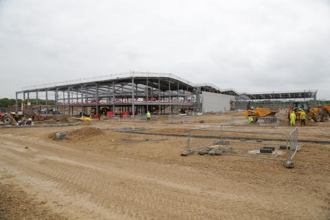 Landmark reached at Hitachi Rail Europe's Newton Aycliffe factory as steel frame is erected