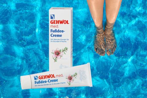 GEHWOL med Fußdeo-Creme für frische Sommerfüße