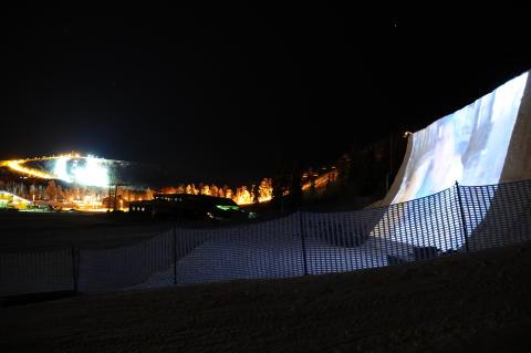 Gratis filmvisning på gigantisk filmduk av snö