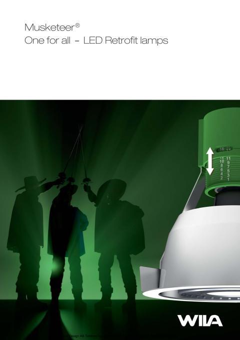 Broschyr Musketeer – One for all – Downlight för retrofit-lampor. Världsnyhet!