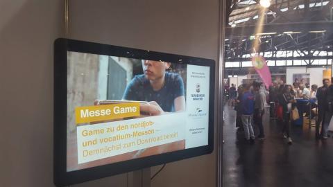 Q-signage, vår molnbaserade lösning för digital signage levererad till kund i Tyskland.