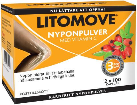 Litomoves nyponpulver i ny skrud