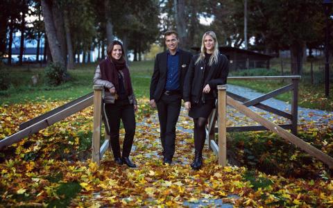 Rånäs Slotts VD Ulf Wisell, Rebecca Brage champagnepremiären