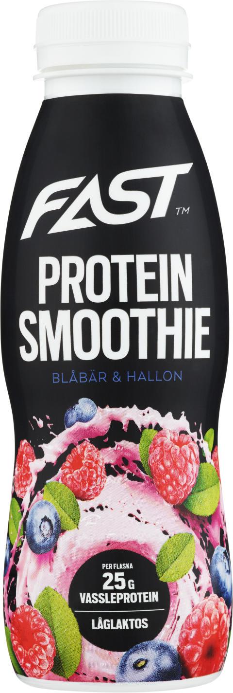 Proteinsmoothie - Blåbär-Hallon 330ml