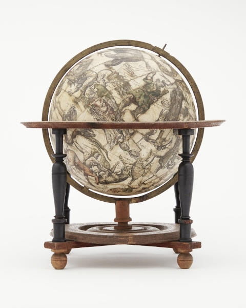 Himmelsglob tillverkad i Willem Blaeus verkstad i Amsterdam 1602.