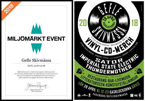 Gefle Skivmässa 2018 är ett Miljömärkt Event!