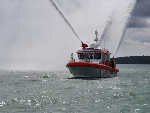 Image - Fischer Panda UK - Fischer Panda UK has joined with aluminium boat builder Aluminium Marine Consultants (AMC) to equip their latest high-performance fire-fighting vessel,  Barracuda, with air conditioning, power and digital switching systems