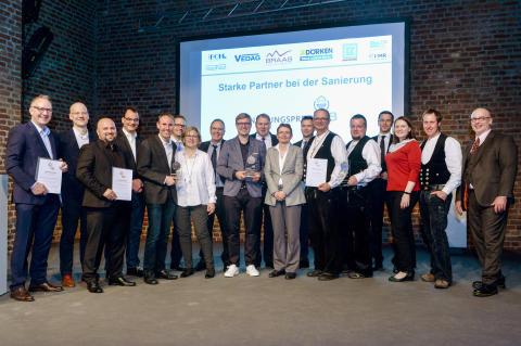 Die stolzen Sieger des Sanierungspreis 18