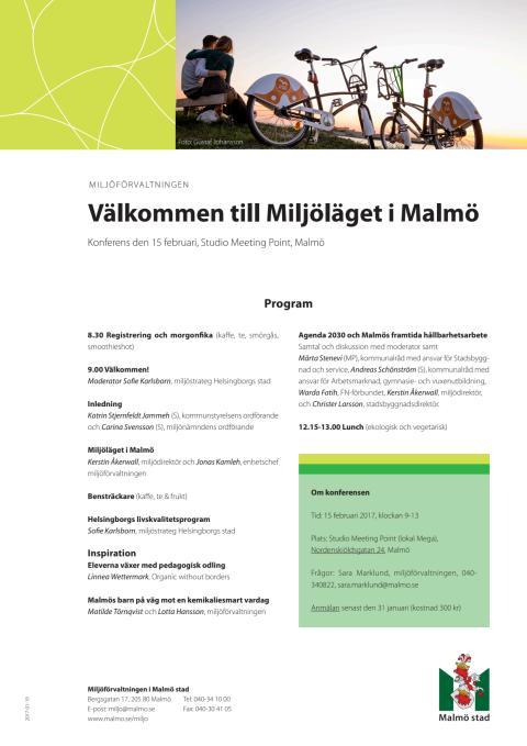 Program miljölägesdagen 15 februari 2017